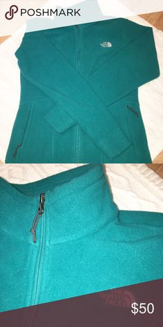 ⚡️New North Face thick fleece Beautiful extra thick fleece. Perfect for outdoor conditions! Super cozy, 100% polyester. Worn ONCE! EXcellent/New condition. Color is teal😍Pricing firm unless bundled. The North Face Jackets & Coats