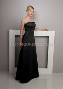Beautiful Black Empire Satin Formal Gown Holiday Dresses Mori Lee 228 $109.00
