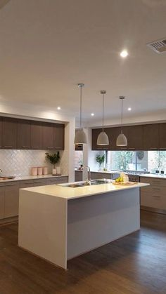 Metricon Homes Kitchen Colour Schemes, Kitchen Colors, Kitchen Ideas, Kitchen Designs, Interior House Colors, Interior Design Living Room, My Home Design, House Design, Kitchen Cabinetry