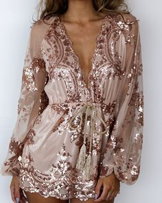 Sequined Sexy Romper
