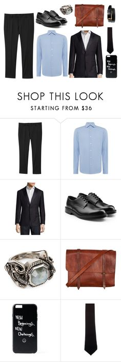 """""""Jeremy Heere"""" by theater-potter-dance-warriors ❤ liked on Polyvore featuring MANGO, HUGO, Calvin Klein 205W39NYC, Alexander McQueen, Alexander Olch and Johnston & Murphy"""