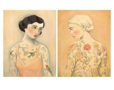 Tattooed Ladies Print Set Rara Avis & Flora / by theblackapple