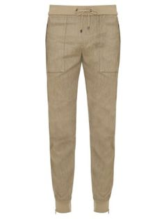 sale retailer ff947 176b0 Vinces linen-blend jersey track pants are a refined option for low-key  days. They have a streamlined shape, and are finished with utility-style  pockets and ...