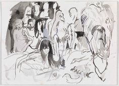 Cecily Brown - Untitled, 2011. Watercolor on paper // Courtesy Gagosian Gallery, photography by Robert McKeever