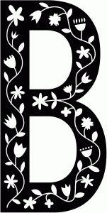 Silhouette Design Store - View Design #68347: scandinavian folk decorative monogram b