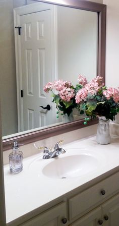 A Mirrormate Frame In Broadway Brushed Chrome Presses Right Onto The Plate Gl Mirror For An