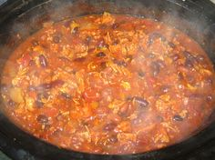 Debbi Does Dinner... Healthy & Low Calorie: Buffalo Chicken Chili in the Slow Cooker