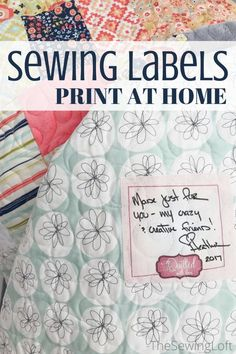 Signing your sewing projects has never been easier with these printable sewing labels. They are easy to make and print on your home printer.