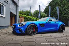Satin Blue Chrome Mercedes-AMG GT S by Prior-Design. http://www.carid.com/
