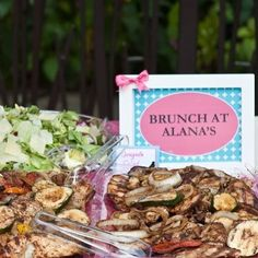 Brunch at Alana's. Make your stations pretty with table art. #collaboration #catering #Emma #designdetails #details #design #events #designer #eventdesigner #yourexperiencematters #jodesigns__