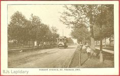Great vintage postcard of Forest Avenue,St Thomas Ontario Canada