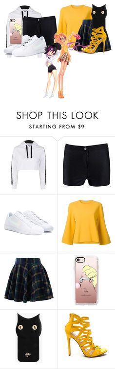 """Gogo Tomago & Honey Lemon"" by princessmikyrah ❤ liked on Polyvore featuring Topshop, NIKE, STELLA McCARTNEY, Chicwish, Disney, Casetify, Valfré and adidas Originals"