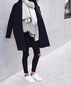 Lovely @Andy Csinger wearing our THE LIV | BLANKET SCARF.
