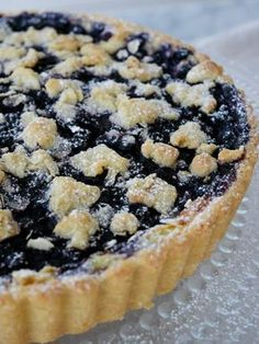 Blåbärspaj med inbakad vaniljkräm | Brinken bakar Pie Dessert, Cookie Desserts, No Bake Desserts, Candy Recipes, Baking Recipes, Dessert Recipes, Cheesecakes, Scones, Candy Cakes