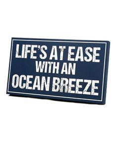 Love this Navy & White 'Ocean Breeze' Wall Art