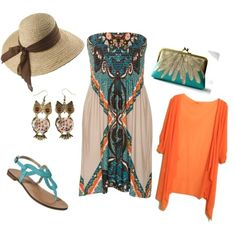 """""""Summer Sunset"""" by danielle-white-1 on Polyvore...Love!!"""