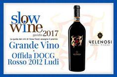 """Il nostro Offida DOCG Rosso 2012 Ludi ha vinto il premio """"GRANDE VINO"""" SLOW WINE e verrà inserito nella prestigiosa guida Slow Wine 2017. Siamo veramente emozionati per questo importantissimo riconoscimento ricevuto da una delle più importanti guide sul vino in Italia."""