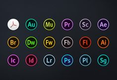 Adobe CC Circles Icons – Free Download