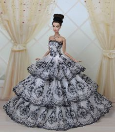 Fashion Royalty Princess Party Dress Clothes Gown for Barbie Doll E05 | eBay