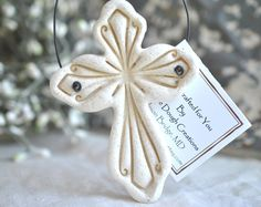 Handcrafted salt dough Imprinted Cross Ornament Etsy :: Your place to buy and sell all things handmade