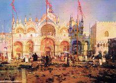 Geoffrey Wynne Acuarelas - Watercolours: SAN MARCOS, VENECIA - SAINT MARK'S, VENICE