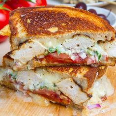 Chicken Gyro Grilled Cheese Grill