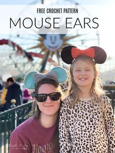 Crochet Mouse Ears -Free Crochet Pattern - Crochet Mouse Ears - This darling bow ears are perfect for your next trip to Disneyland! Customize them anyway to want to make them perfect for you. #crochetmouseears #crochetminniemouseears #crochetdisneyland