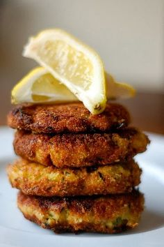 Zucchini and Ricotta Fritters with Lemon Recipe ~ Tenacity Solution