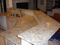 Giallo Ornamental Granite Countertops Add Elegance In The Kitchen - Page 2 of 31 - KitchenRemodel. House Design, Countertops, Cleaning Granite Countertops, Kitchen Cabinets And Countertops, Remodel, Best Kitchen Cabinets, Kitchen Renovation, Granite Countertops Kitchen, Kitchen Design