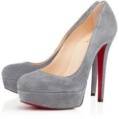 Christian Louboutin Bianca ($845) ❤ liked on Polyvore featuring shoes, pumps, heels, sapatos, christian louboutin, acier, sky high, stiletto pumps, platform stiletto pumps and christian louboutin stilettos