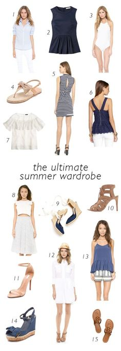 THE ULTIMATE SUMMER WARDROBE