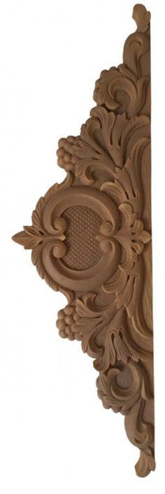 Adorno para pared. Dintel o aplique para adornar paredes, muebles o cabeceros. Medidas 60 x 18 cm