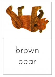 Brown Bear, Brown Bear, what do you see? flashcards for EFL