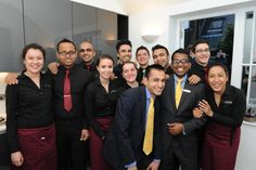 Flemings Mayfair suites and apartments launch party - our food and beverage team #excellent #service