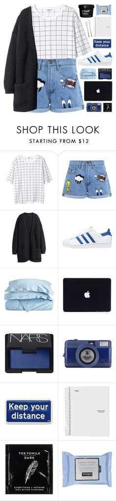 """""""KEEP YOUR DISTANCE"""" by emmas-fashion-diary ❤ liked on Polyvore featuring Monki, Paul & Joe Sister, adidas Originals, Impressions, NARS Cosmetics, Anya Hindmarch, TokyoMilk and Alessi"""
