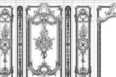 Дизайн-проект гостиной в стиле барокко. Фрагмент развертки стен: Лепнина.