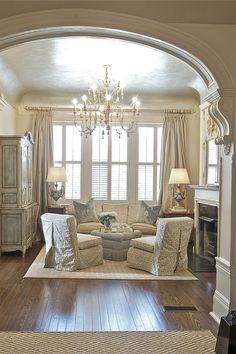 Impressive French Country Living Room Design Ideas – Home Alone French Style Decor, French Country Kitchens, French Country Bedrooms, French Country Living Room, French Country Cottage, French Country Style, French Country Decorating, Vintage French Decor, French Living Rooms