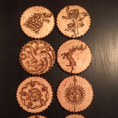 Wood burnt Game of Thrones Coasters!! Order now!