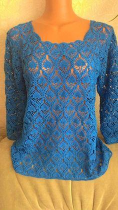 Crochet Shirt, Crochet Cardigan, Crochet Top, Crochet Needles, Crochet Stitches, Knitting Patterns, Crochet Patterns, Crochet Clothes, Long Sleeve Tops