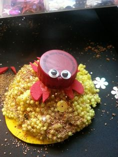 Crab Crafts! Make a sensory bin or decorative jar to house your crab buddy!