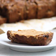 Healthy Banana Bread is made with just a few simple, nutritious ingredients. Easy to make + full of flavor – it's perfect for breakfast or snacking! Quick Healthy Desserts, Low Carb Desserts, Healthy Breakfast Recipes, Breakfast Ideas, Healthy Food, Nutritious Breakfast, Healthy Recipes, Healthy Breakfasts, Crockpot Recipes