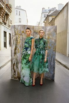 Painterly florals on painterly florals –from Russian designer Alexander Terekhov's FW2012/13 lookbook