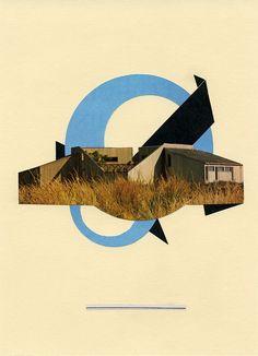 Les collages minimalistes et vintage de Mark Searcy | Le Blog du Kitsch