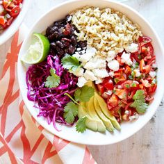 Whole-Grain Veggie Burrito Bowl Recipe | CookingLight.com