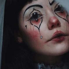 Sad clown Another awesome last minute costume idea, brought to us by makeup muse: @tatianaroseart {using Ink Liner in Neruda and Tattoo Liner in Trooper} #katvondbeauty #crueltyfreebeauty #muse