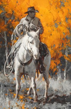 Horseback on the Coldwater Ranch > Jason Rich Cowboy Horse, Cowboy Art, Cowboy Pictures, Underwater Painting, West Art, Horse Drawings, Equine Art, Mountain Man, Horse Art
