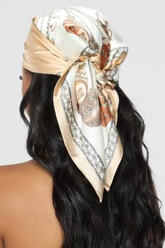 Hairs A Mess Head Scarf – Beige Hair A mess headscarf – beige Hair Wrap Scarf, Hair Scarf Styles, Curly Hair Styles, Silk Hair Scarf, Hijab Styles, Scarf Head Wraps, Headband Scarf, Head Scarf Tying, Headband Styles