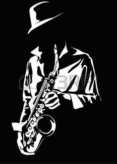 Quotes Discover Vector Image Of The Saxophonist Stock Photo Picture And Royalty Free Image. White Art, Black Art, Black Paper, Art Blanc, Jazz Art, Jazz Music, Silhouette Art, Stencil Art, Illustration