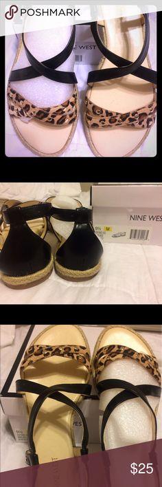 NWT Nine West Strappy Sandals! Still in box Cheetah print Strappy sandals! Never worn and still in box! Nine West Shoes Sandals