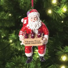 North Pole Wine Delivery Santa Ornament  #christmasinjuly #sale #GiftsForWomen #GiftsForAllOccassions #UniqueGifts #Inspirational #Apparel #Accessories #Home #Garden #Kitchen #Decor #Snarky #Fun #Girlfriends #Sisters #Love #Gifts #trendy #trendsetter #fashion #fashionista #smile #picoftheday #photooftheday #sale #deal #shop #shoptilyoudrop #santa #ornament #wine #winedelivery